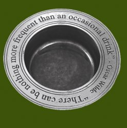 An Occasional Drink Philosophers Quote Stylish Pewter Wine Bottle Coaster
