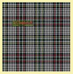 Abbotsford Modern Check Single Width 4oz Tartan Pure Silk Fabric