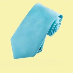 Aqua Tiffany Blue Formal Boys Ages 7-13 Wedding Straight Boys Neck Tie