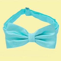 Aqua Tiffany Blue Boys Ages 1-7 Wedding Boys Neck Bow Tie