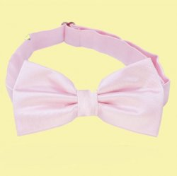 Baby Pink Boys Ages 1-7 Wedding Boys Neck Bow Tie