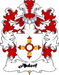 Abdorf Swiss Coat of Arms Print Abbott Swiss Family Crest Print