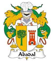 Abadal Spanish Coat of Arms Print Abadal Spanish Family Crest Print