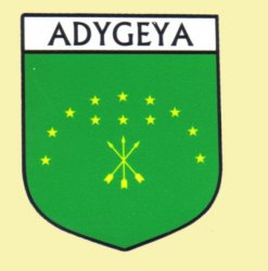 Adygeya Flag Country Flag of Adygeya Decals Stickers Set of 3