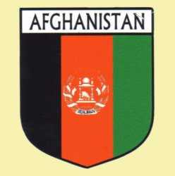 Afghanistan Flag Country Flag of Afghanistan Decals Stickers Set of 3
