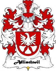 Adlischwil Swiss Coat of Arms Print Adlischwil Swiss Family Crest Print