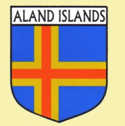 Aland Islands Flag Country Flag of Aland Islands Decals Stickers Set of 3