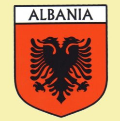 Albania Flag Country Flag of Albania Decals Stickers Set of 3