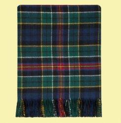 Allison Modern Clan Tartan Lambswool Blanket Throw