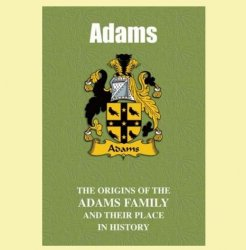 Adams Coat Of Arms History Welsh Family Name Origins Mini Book
