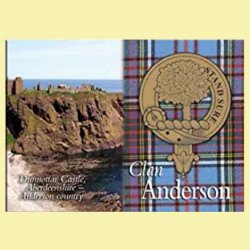 Anderson Clan Badge Scottish Family Name Fridge Magnets Set of 4