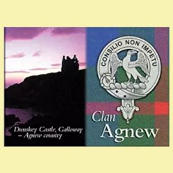 Agnew Clan Badge Scottish Family Name Fridge Magnets Set of 2