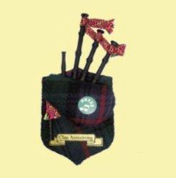 Armstrong Clan Tartan Musical Bagpipe Fridge Magnets Set of 3