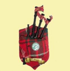 Bruce Clan Tartan Musical Bagpipe Fridge Magnets Set of 3
