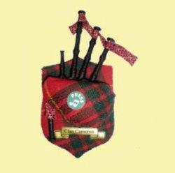Cameron Clan Tartan Musical Bagpipe Fridge Magnets Set of 3