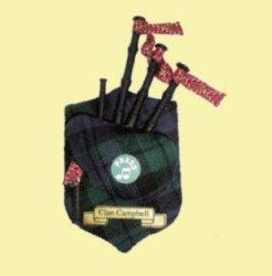 Campbell Clan Tartan Musical Bagpipe Fridge Magnets Set of 3