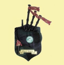 Blackwatch Tartan Musical Bagpipe Fridge Magnets Set of 2