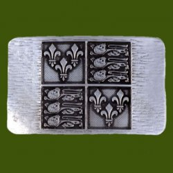 Agincourt 1415 Rectangular Mens Pewter Belt Buckle