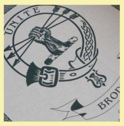 Brodie Clan Cloot Crest Unbleached Cotton Printed Tea Towel