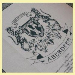 Aberdeen Scotland Cloot Unbleached Cotton Printed Tea Towel