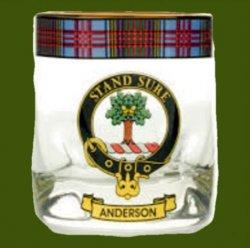Anderson Clansman Crest Tartan Tumbler Whisky Glass Set of 2