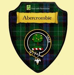 Abercrombie Modern Tartan Crest Wooden Wall Plaque Shield