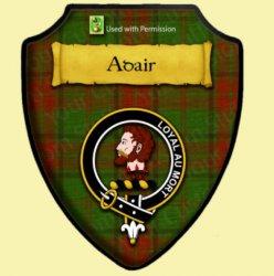 Adair Hunting Tartan Crest Wooden Wall Plaque Shield