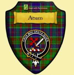 Adam Modern Tartan Crest Wooden Wall Plaque Shield