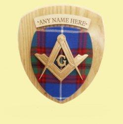 Masonic Scottish Family Name Tartan 10 x 12 Woodcarver Wooden Wall Plaque