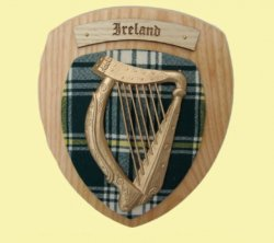 Irish Family Name Tartan 10 x 12 Woodcarver Wooden Wall Plaque