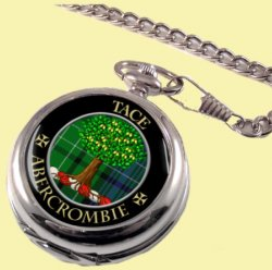 Abercrombie Clan Crest Round Shaped Chrome Plated Pocket Watch