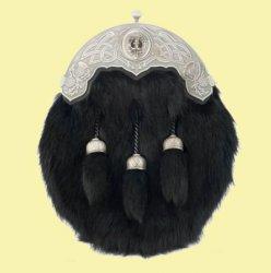 Celtic Interlacing Thistle Detail Clan Crest Straight Chain Dress Mens Sporran