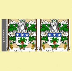 Your Bookplate Coat of Arms Surname Custom Stubby Holders Set of 2