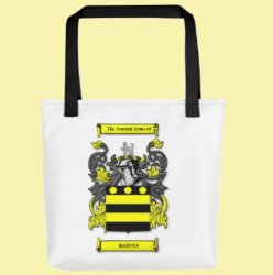 Your Coat of Arms Surname Double Sided Polyester Custom Tote Bag