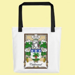Your Bookplate Coat of Arms Surname Double Sided Polyester Custom Tote Bag