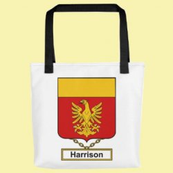 Your English Coat of Arms Surname Double Sided Polyester Custom Tote Bag