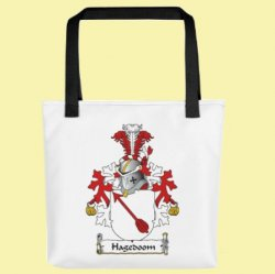 Your Dutch Coat of Arms Surname Double Sided Polyester Custom Tote Bag