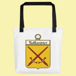 Your French Coat of Arms Surname Double Sided Polyester Custom Tote Bag