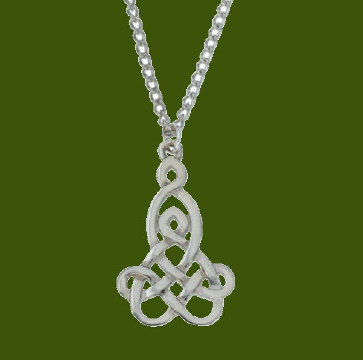 Image 0 of Mother And Child Celtic Interwoven Knotwork Stylish Pewter Pendant