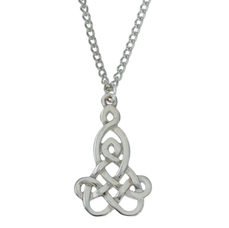 Image 1 of Mother And Child Celtic Interwoven Knotwork Stylish Pewter Pendant