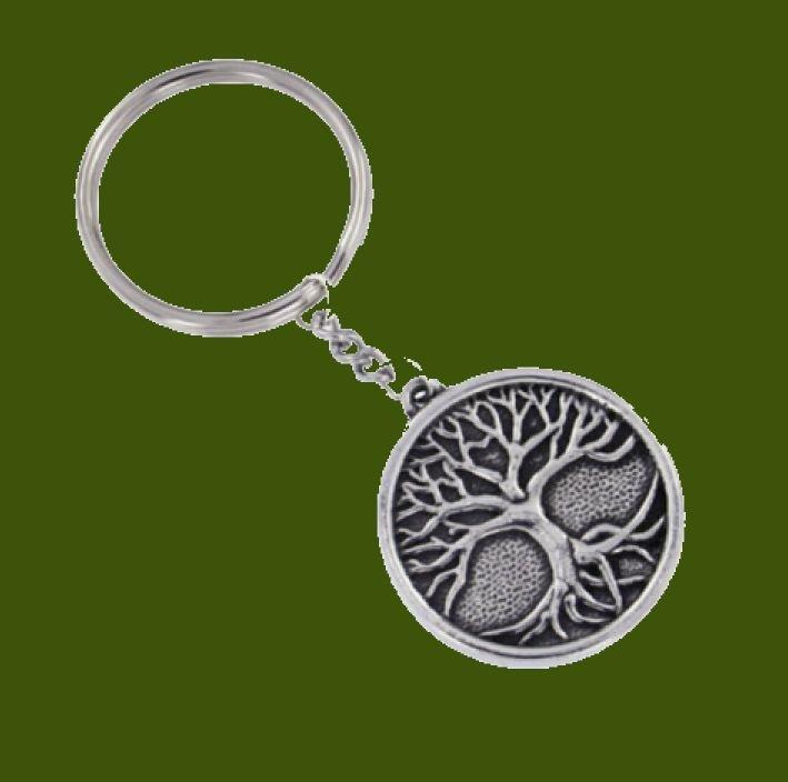Image 0 of Tree of Life Circular Stylish Pewter Key Ring