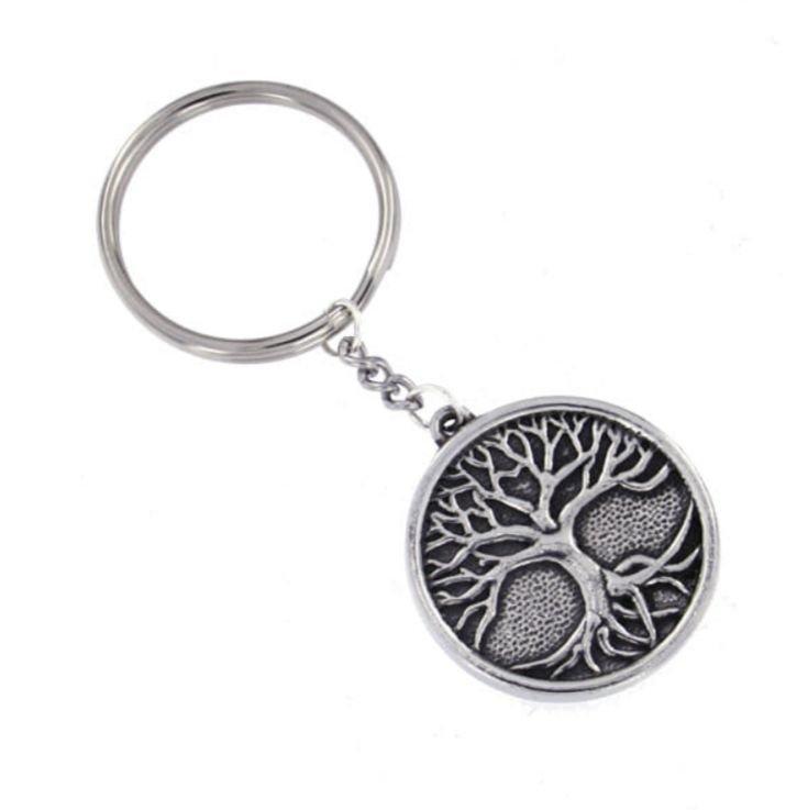 Image 1 of Tree of Life Circular Stylish Pewter Key Ring
