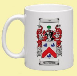 Abercrombie Coat of Arms Surname Double Sided Ceramic Mugs Set of 2
