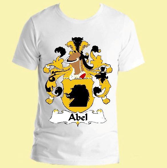 Image 0 of Abel German Coat of Arms Surname Adult Unisex Cotton T-Shirt