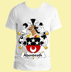 Abendroth German Coat of Arms Surname Adult Unisex Cotton T-Shirt
