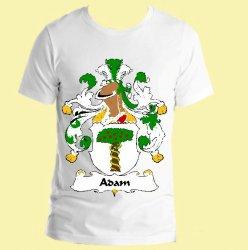 Adam German Coat of Arms Surname Adult Unisex Cotton T-Shirt