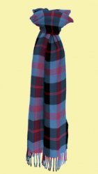Angus Muted Scotland District Tartan Lambswool Unisex Fringed Scarf