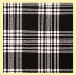 Black And White Check Welsh Tartan Polycotton Stacey Skirt Ladies Kilt