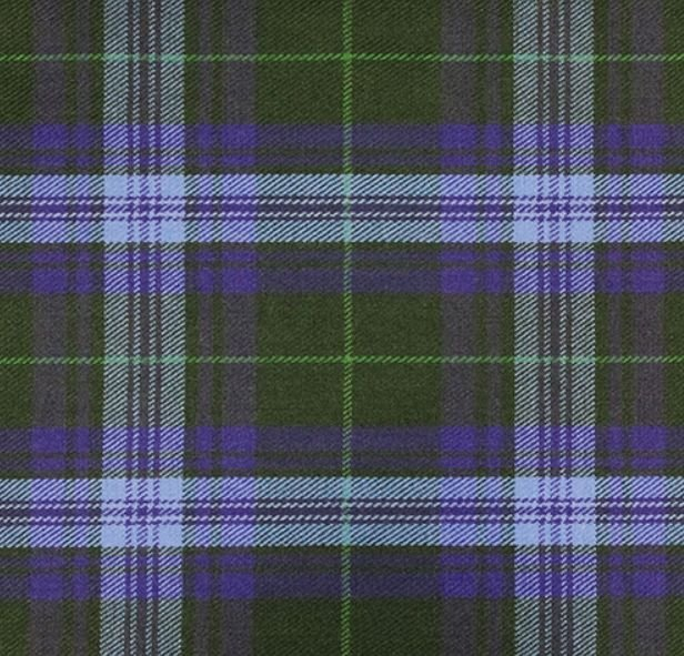 Image 1 of Jones John Welsh Tartan 13oz Wool Fabric Medium Weight Ladies Kilt Skirt