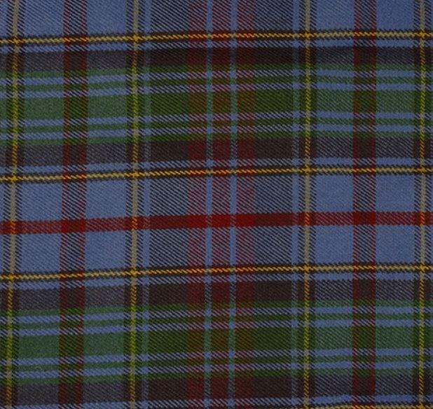 Image 1 of County Of Powys Welsh Tartan 13oz Wool Fabric Medium Weight Ladies Kilt Skirt